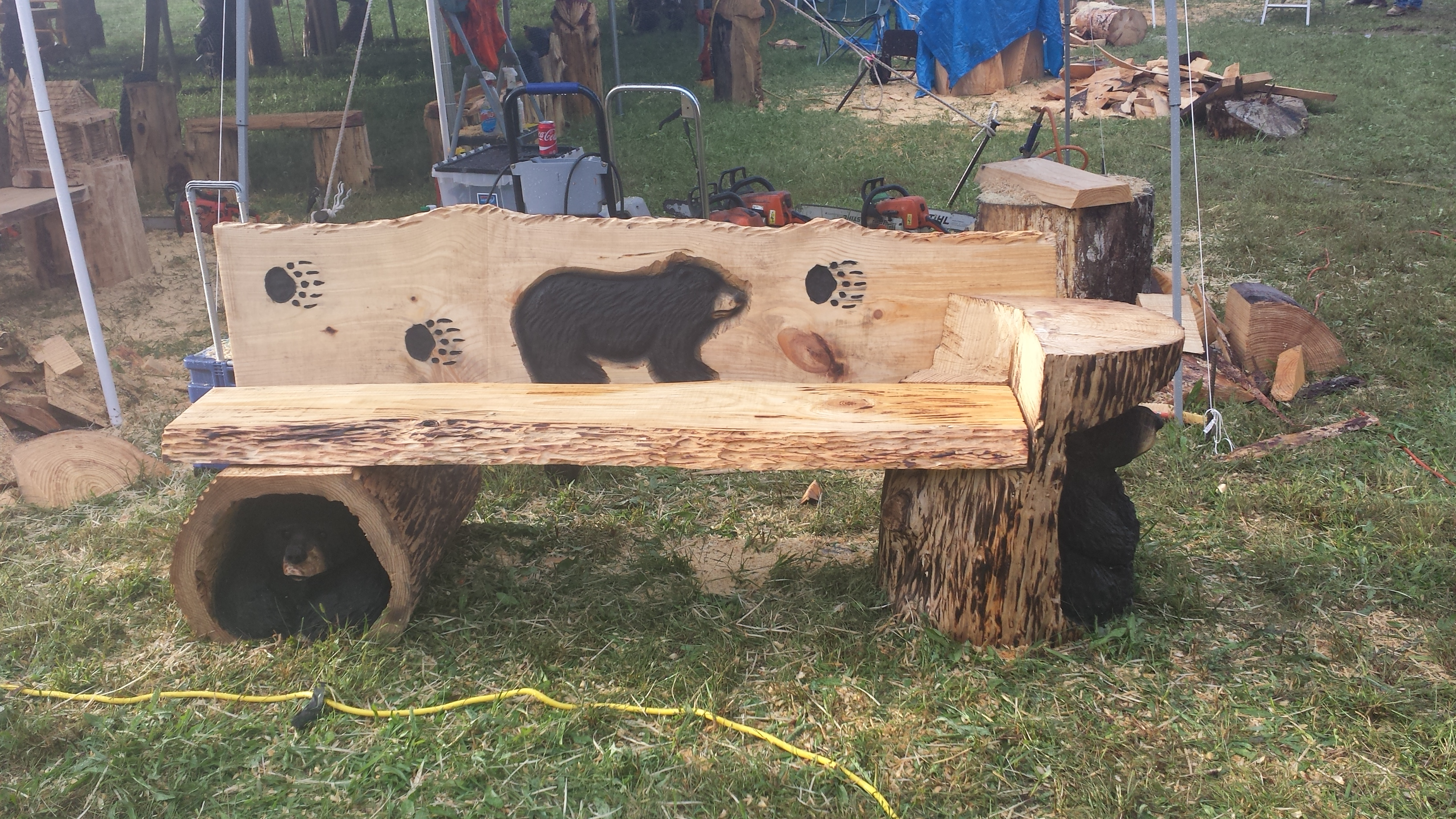 Benches tables chairs christman s chainsaw carvings